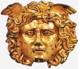 ZLATNA MASKA GORGON iz 200 godine pre nove ere, The Deva Museum