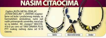 Resize of ŠKOLJKA, TANTRA, RUŽA, ogrlice rucni rad,  narucuje se na telefon 065-216 416 0